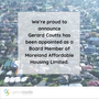 Gerard Coutts Appointed as a Board Member of Moreland Affordable Housing Limited