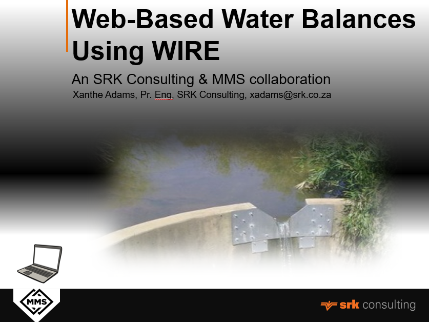 SRK and MMS are collaborating on providing web based water balances