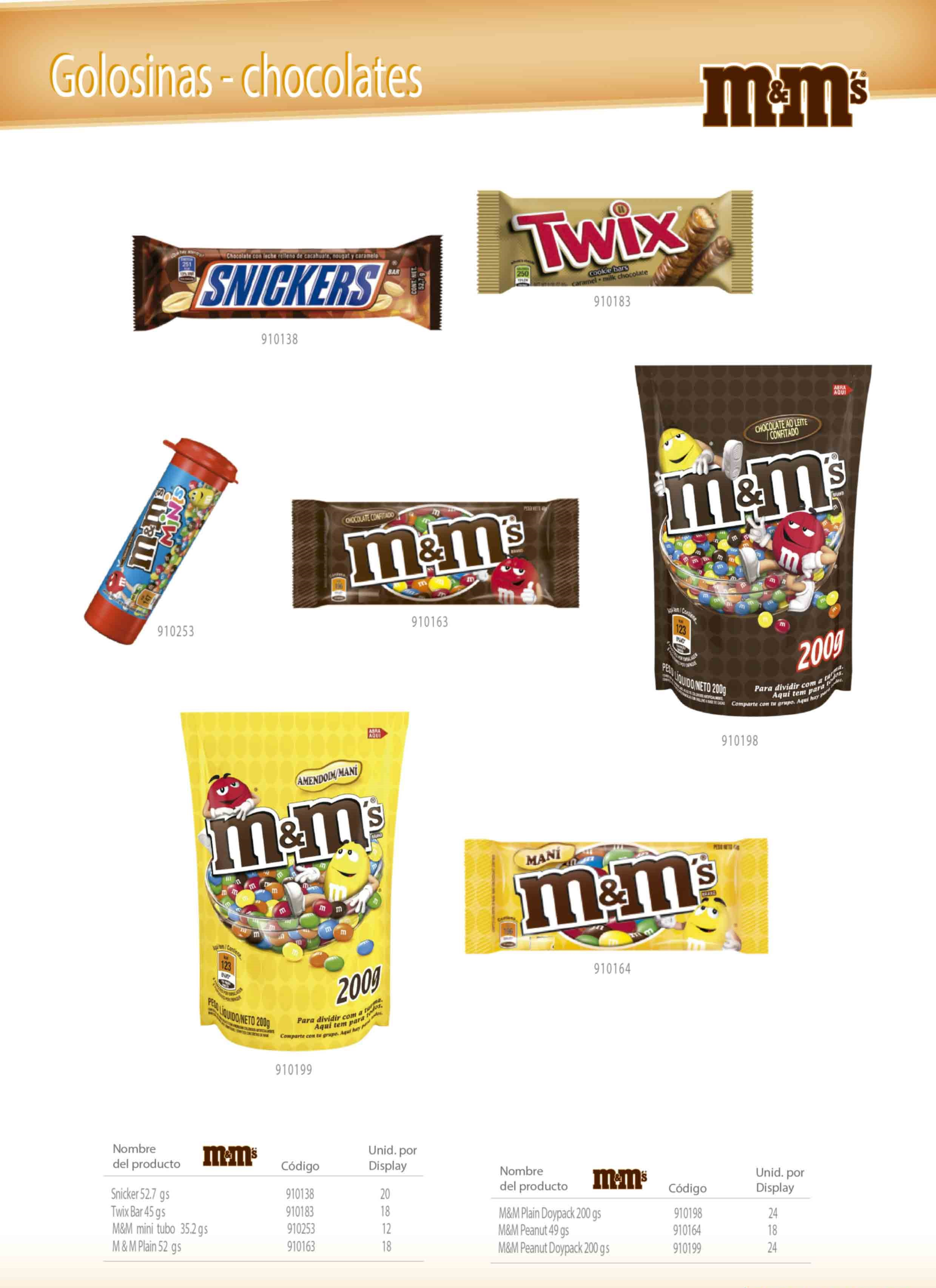 Snickers - Twix Bar - M&M