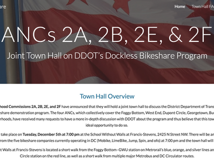 ANCs 2A, 2B, 2E, and 2F Launch Website for Upcoming Dockless Bikeshare Town Hall