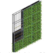 Murs végétalisés, procédés
