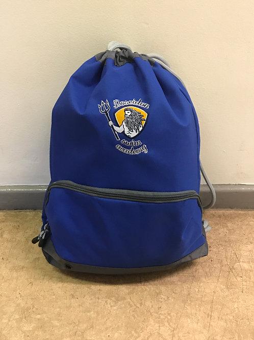 Poseidon swim academy large drawstring bag