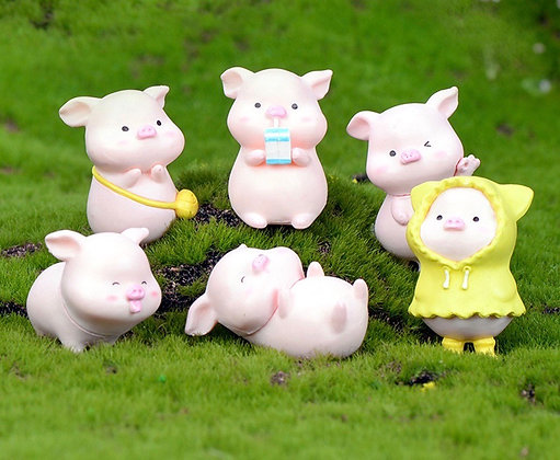 Cute Pig Figurine