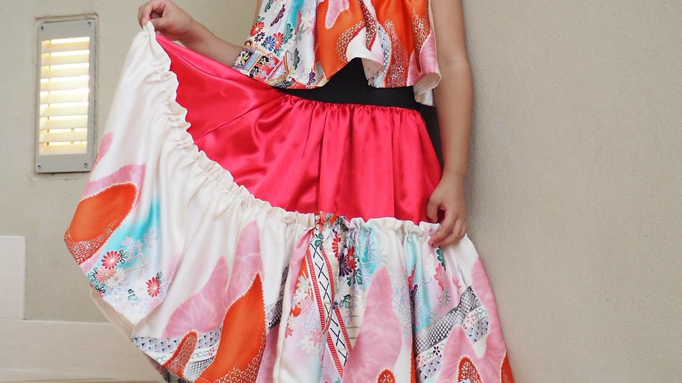キッズ用着物ドレス#171