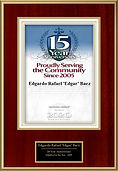 Fifteen Years Award E.R. Baez.jpg