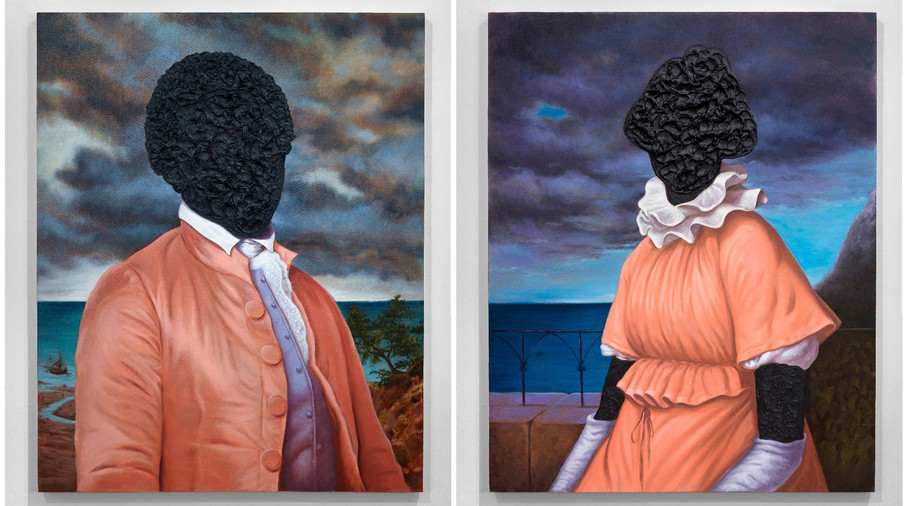 Billy Lee: Portrait in Tar and Ona Judge: Portrait in Tar by Titus Kaphar