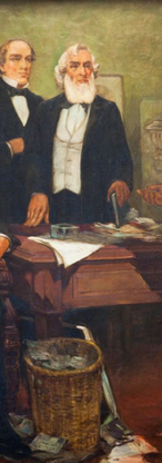 Frederick Douglass appealing to President Lincoln and his cabinet to enlist Negroes by William Edouard Scott
