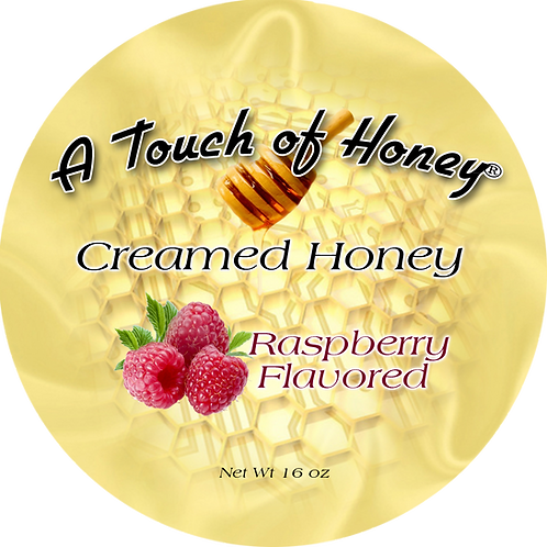 Raspberry Flavored Creamed Honey