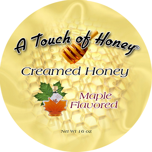 Maple Flavored Creamed Honey