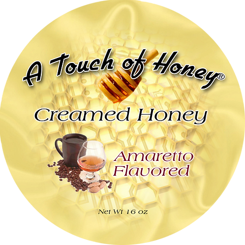 Amaretto Flavored Creamed Honey