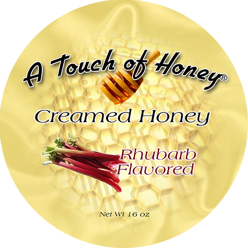 Rhubarb Flavored Creamed Honey