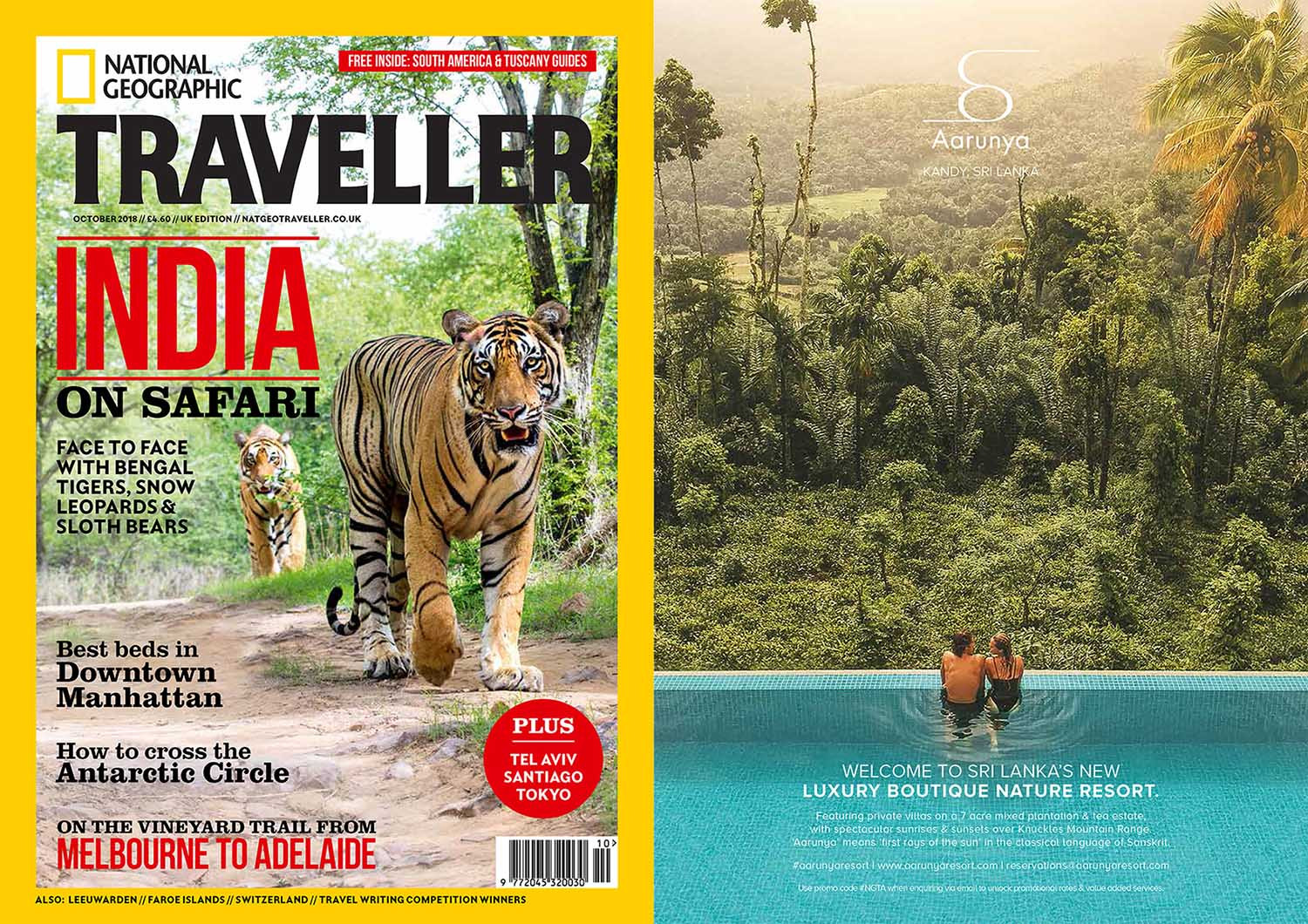 Aarunya Resort As Seen in National Geographic Traveller (United Kingdom) October 2018 Issue.