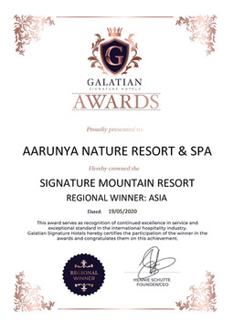 Signature Mountain Resort Regional Winner in Asia.
