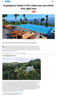 Condé Nast Traveler - '8 gorgeous hotels in Sri Lanka you can check into right now' - 15 April 2021