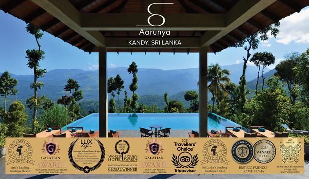 Aarunya is a multiple international award winning resort.
