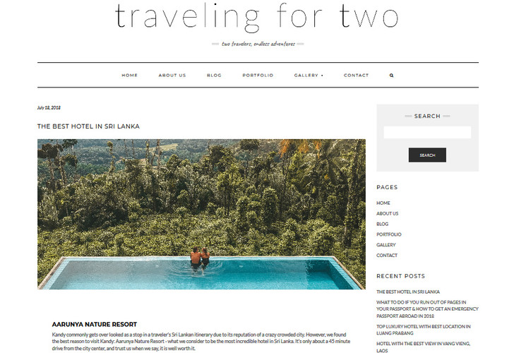 American Blogger Couple #travelingfortwo give Aarunya Resort an Awesome Review.
