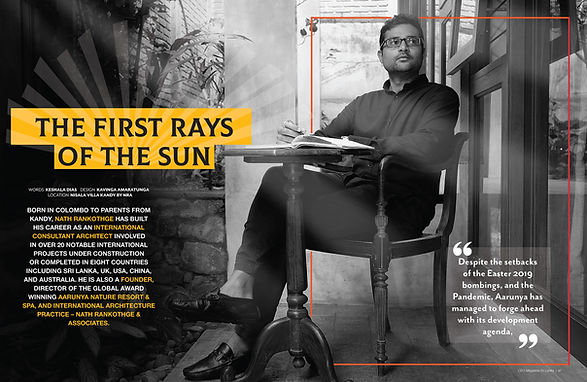 """CEO Magazine of Sri Lanka Feature Article - """"First Rays of the Sun"""""""