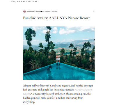 """Paradise Awaits: Aarunya Nature Resort"" by travel bloggers Dan & Gigi"