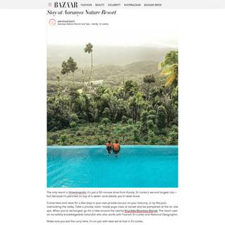 Aarunya has been featured in Harper's Bazaar!