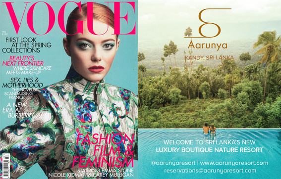 Aarunya Resort is honored to be handpicked for British Vogue's Travel Collection in the first issue of 2019!