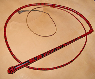 S17 16x16 Red and Black Stockwhip