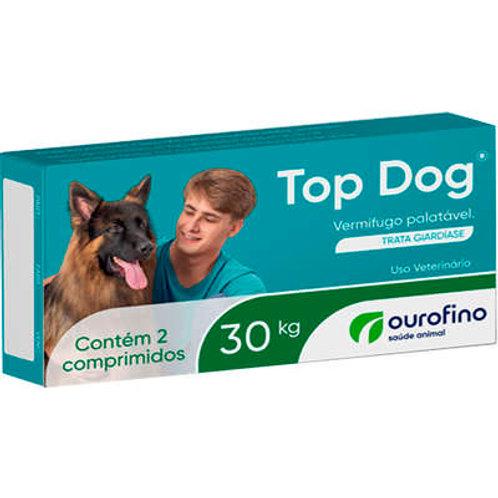 Vermífugo Top Dog Cães 30kg Ourofino