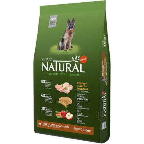 Ração Affinity Guabi Natural Frango e Arroz Integral Cães Sênior Médio e Grande