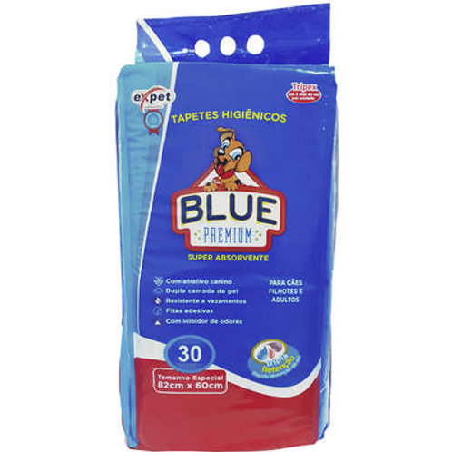 Tapete Higiênico Blue Premium Expet - 30 Unidades