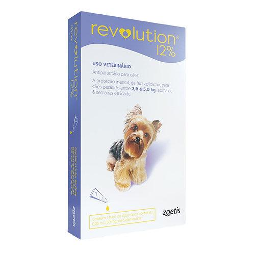 Antipulgas Revolution 12% 30mg Cães 2,6 a 5kg