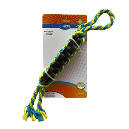 Brinquedo Chalesco Para Cães Twist S com Corda e Borracha