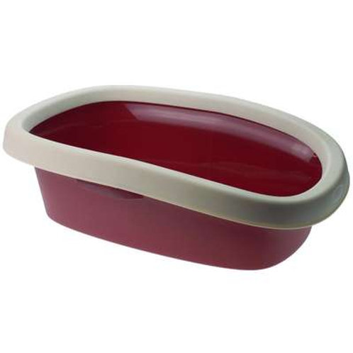 Bandeja Higiênica Com Borda Para Gatos Vermelho Chalesco Tam:02