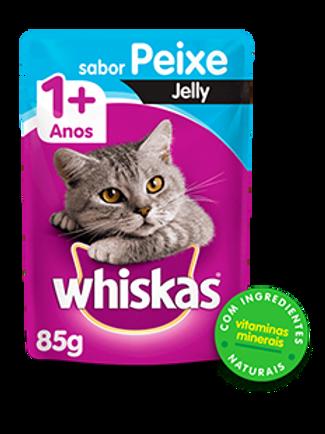 Sachê WHISKAS para Gatos Adulto Sabor Peixe Jelly - 85 G