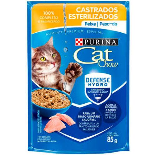 Sachê Purina Cat Chow para Gatos Adultos Castrados - Peixe ao Molho