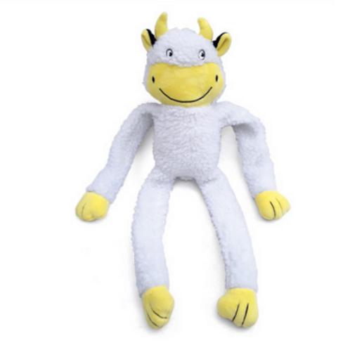 Brinquedo Chalesco Para Cães Vaca de Pelúcia