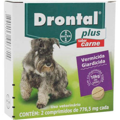 Vermífugo Drontal Plus Cães até 10kg Sabor Carne Bayer