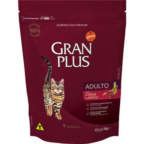 Ração GRANPLUS para Gatos Adultos Sabor Carne & Arroz
