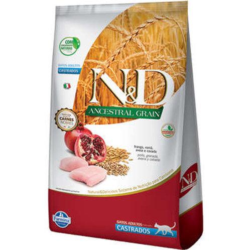 Ração Farmina N&D Ancestral Grain Frango Gatos Adultos Castrados