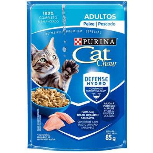 Sachê Purina Cat Chow Gatos Adultos Peixe ao Molho