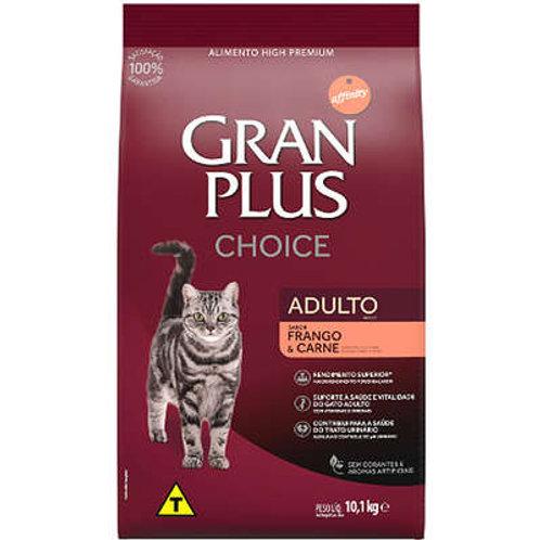 Ração GRANPLUS Choice para Gatos Adultos Sabor Frango & Carne - 10,1 Kg