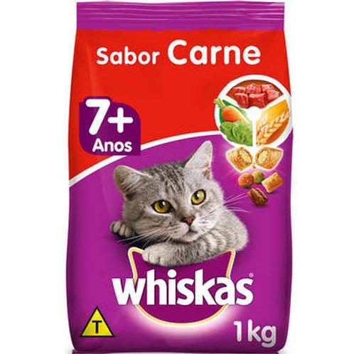 Ração WHISKAS para Gatos Idosos Sênior Sabor Carne - 1 Kg