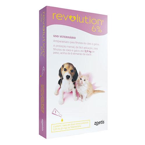Antipulgas Revolution 6% 15mg Cães e Gatos 2,5kg