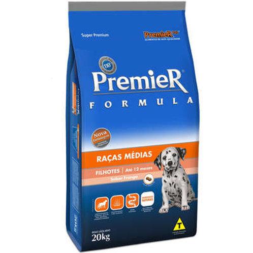 Ração Premier Formula Cães Filhotes Raças Médias Frango - 20 kg