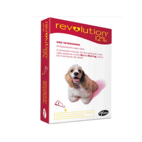Antipulgas Revolution 12% 120mg Cães 10,1 a 20,0kg