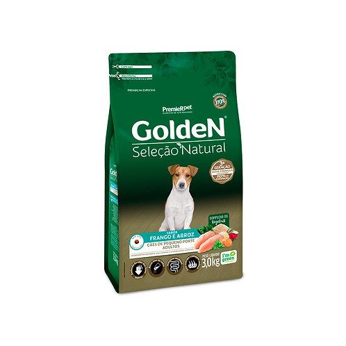 Ração Golden Seleção Natural para Cães Adultos Mini Bits Frango