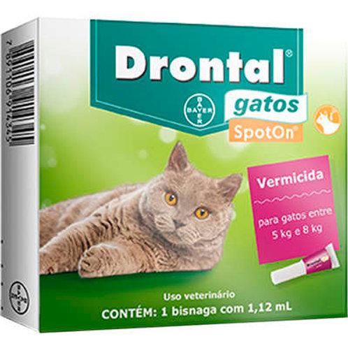 Vermífugo para Gatos Drontal Spot On 5kg a 8kg Bayer