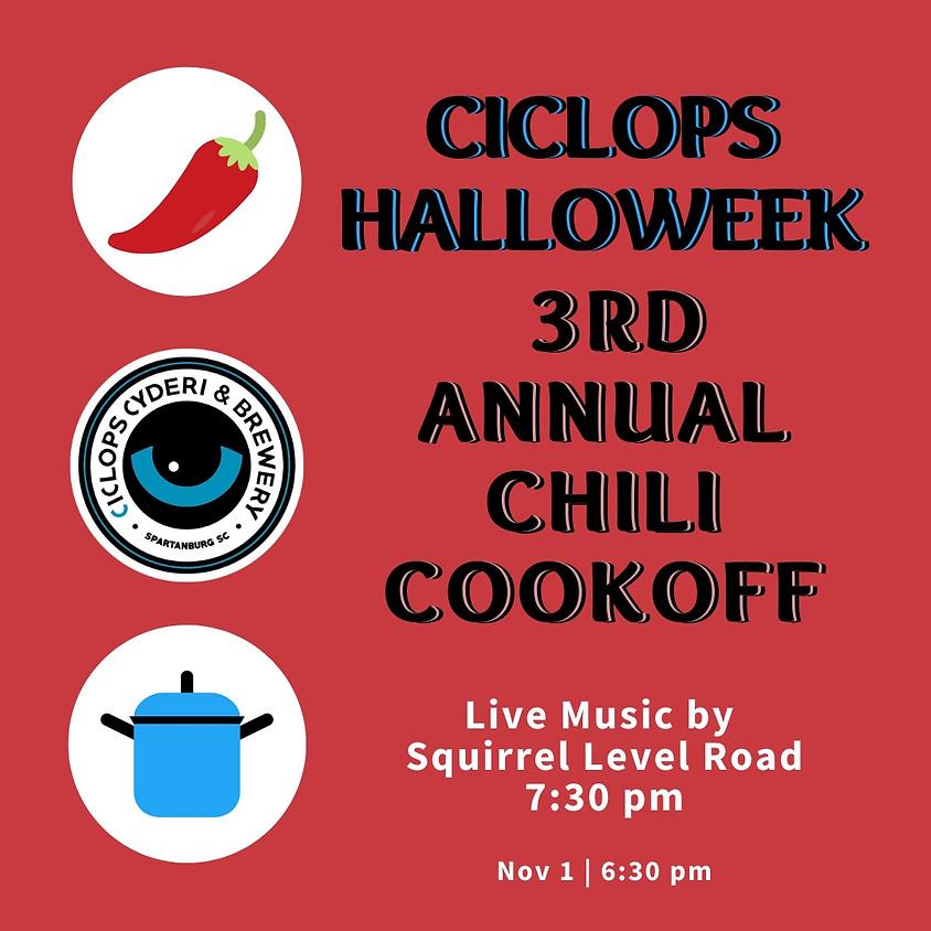 Halloweek:  Chili Cookoff