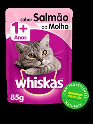 Sachê WHISKAS 0 para Gatos Adulto Sabor Salmão ao Molho - 85 G