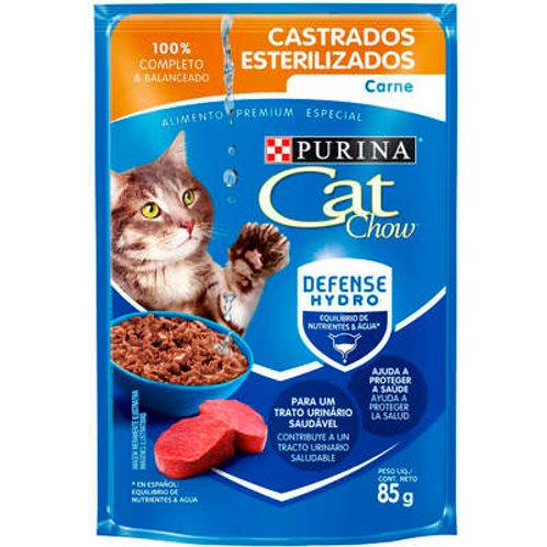 Sachê Purina Cat Chow Gatos Castrados Carne