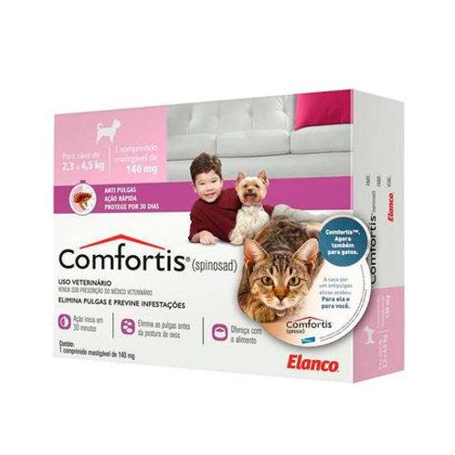 Antipulgas Elanco Comfortis 140 mg - Cães de 2,3 a 4Kg e Gatos de 1,9 a 2,7Kg