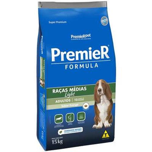 Ração Premier Formula Cães Adultos Raças Médias Light - 15 Kg